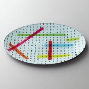 Word Search Crystal Dish by Kate Spade New York