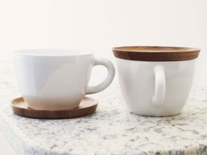 Teacup with Wood Saucer from Scandinavian Brands Online