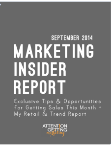 Insider Report Cover