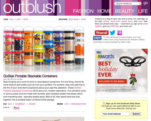 top shopping blogs outblush